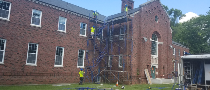 Slate Roof Repairs at Building 23