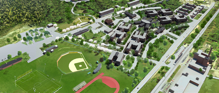 Campus Rendering with Athletic Fields