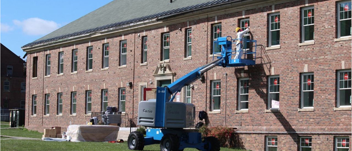 Installation of New Windows at Building 11