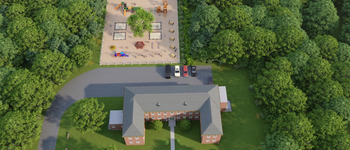Exterior of Building #18 - Olivet Academy