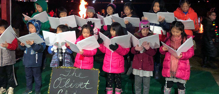 Olivet Academy Choir Performance at Town's Christmas Tree Lighting Event