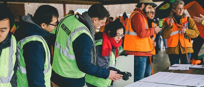 Dozens of Students Volunteer in Town Clean-up Activities